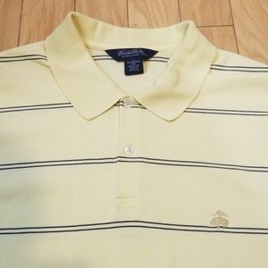 Brooks Brothers Shirts - Brook Brothers Yellow Striped Polo Sz XL